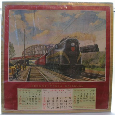 2020: 1949 Pennsylvaian Railroad Calendar