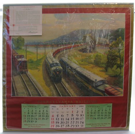 2023: 1953 Pennsylvania Railroad Calendar