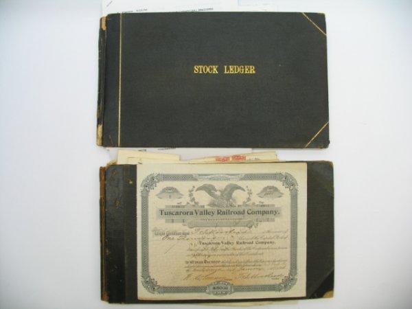 2152: Tuscarora Valley Railroad Stock Certificate Book