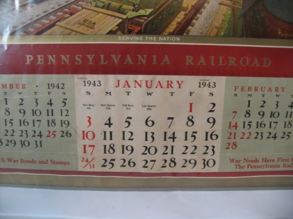 2160: PRR 1943 Calendar - Complete - 2