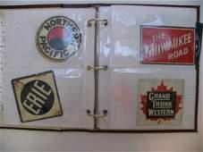 2432  22 Post Cereal  Railroad Emblems