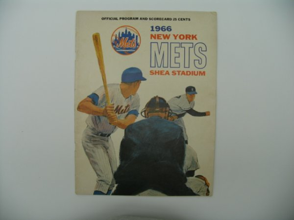 9: New York Mets 1966 Shea Stadium Program