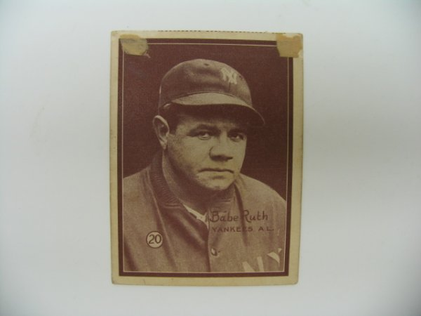 31: Babe Ruth 1931 W517 Baseball Card #20