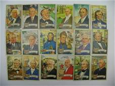 434 US Presidents 1956 Topps Partial Set