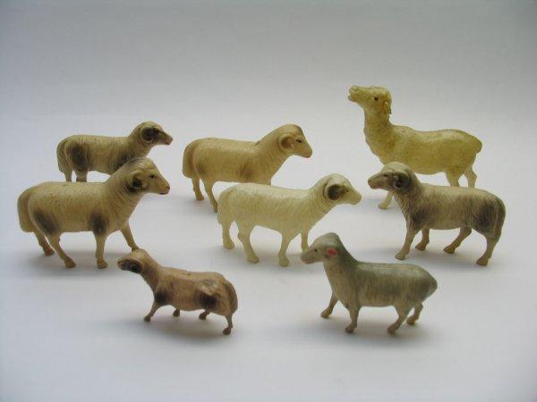 1013: (7) Celluloid Rams, (1) Celluloid Deer