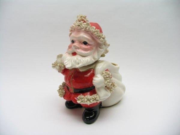1022: Relpo Ceramic Bobble Head Santa