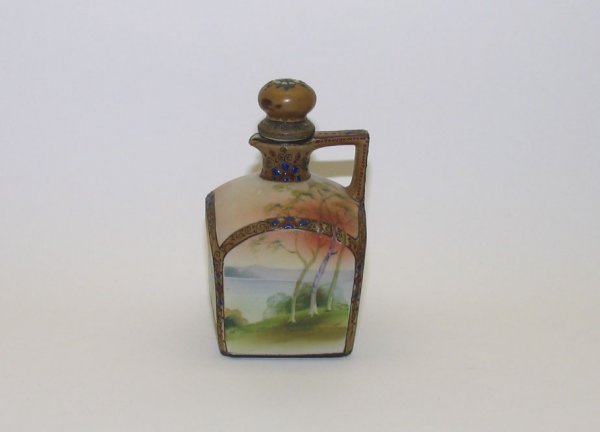 """1288: Heavily Decorated Nippon Decanter, 8"""""""