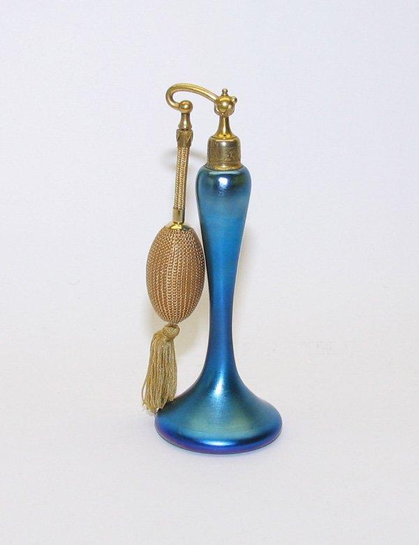 1318: De Vilbiss Art Glass Perfume Bottle, Atomizer
