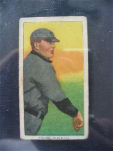 1: Cy Young 1909 T206 HOF'er Tobacco Card
