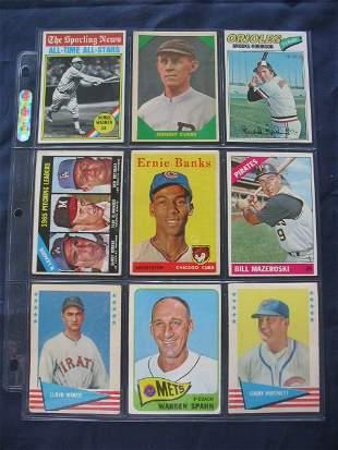 (9) 1958 Vintage Hall of Famer Baseball Cards