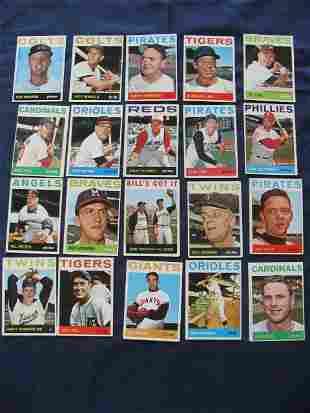 1964 Topps Baseball Card Grouping