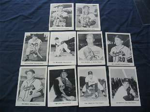 (10) Baseball Player Picture Cards c. 1960