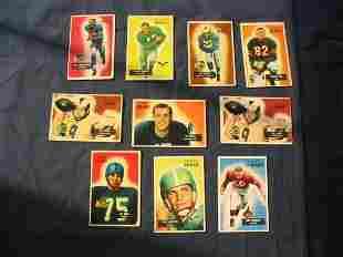 (10) 1950's Bowman Football Player Star Cards