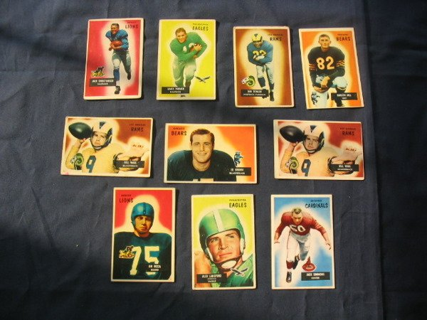 12: (10) 1950's Bowman Football Player Star Cards