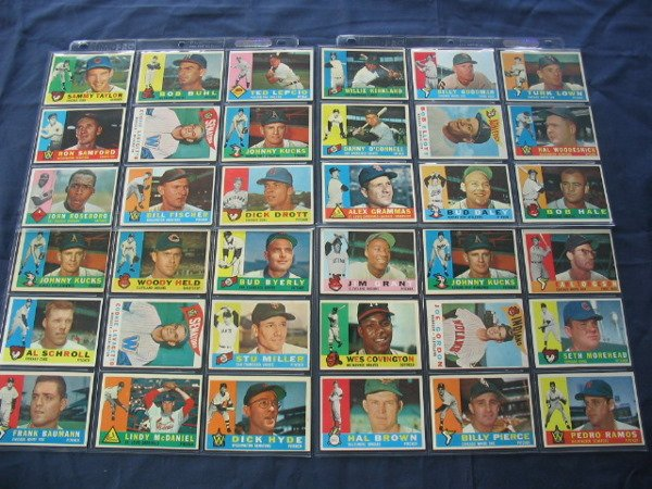 13: 1960 Topps Baseball Card Sheets
