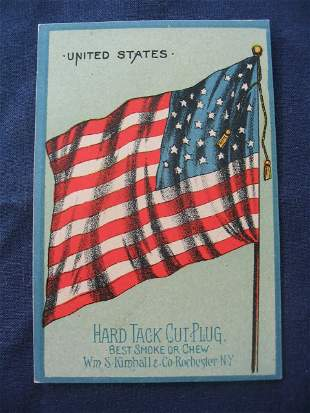 1890's N195 Hard Tack Cut Plug Tobacco Card