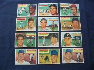 (12) 1956 Topps Vintage Baseball Cards