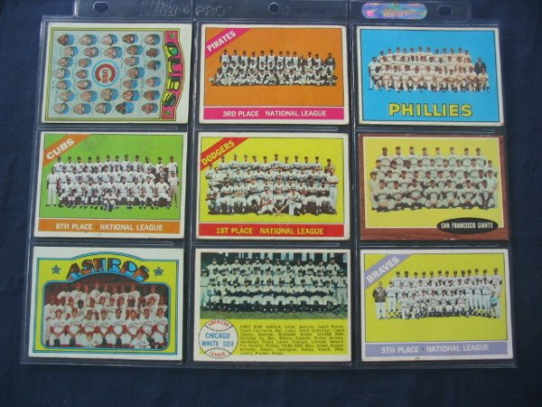 17: Lot of (9) Vintage Baseball TEAM CARDS