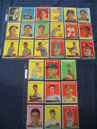 1958 Topps Baseball Card Sheets
