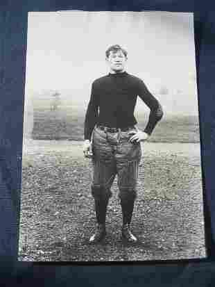 Jim Thorpe Football Photo as a Carlisle Indian