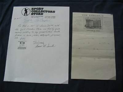 23: Knute Rockne Hand Drawn Play Hotel Letterhead