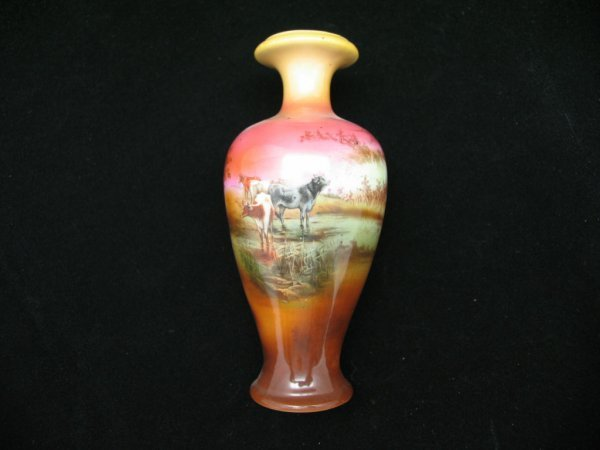 2024: Royal Bayreuth Vase with Cow, 6""