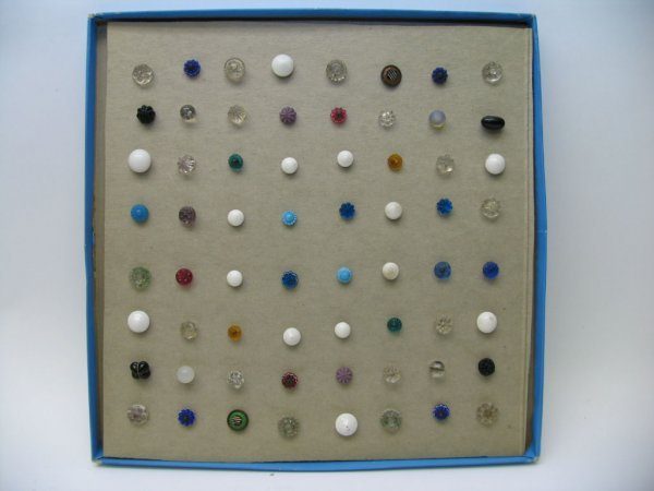 4018: 64 Buttons, Mostly Glass and China