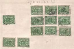 4249: (45) 1912 Stamps, Scotts 397, 398, 400