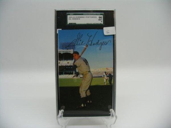 6006: Gil Hodges Brooklyn Dodgers 1953-55 Postcard