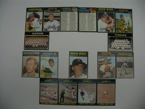 6009: 1971 Topps High Grade Baseball Card Grouping