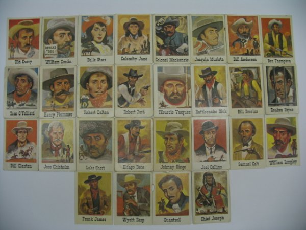 6010: 1966 Leaf Good Guys and Bad Guys Partial Set
