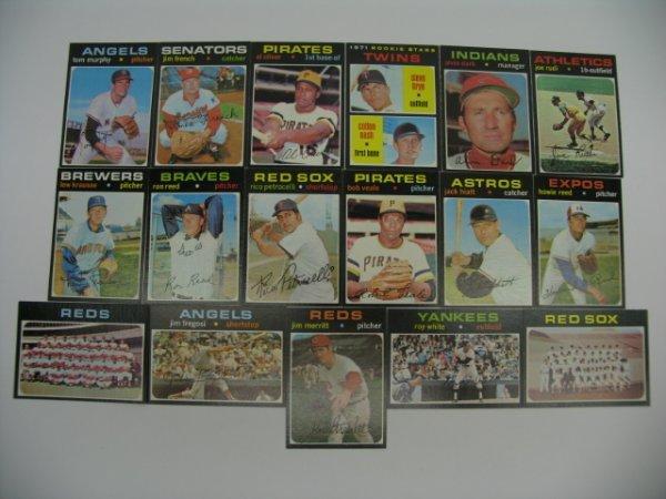 6014: 1971 Topps High Grade Baseball Card Grouping