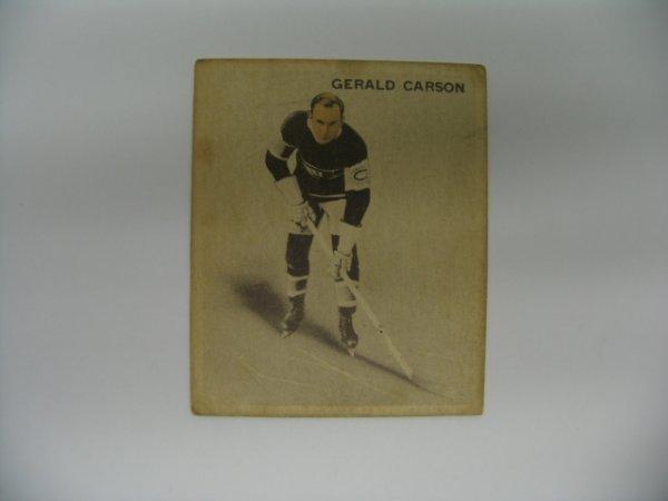 6016: 1933-34 V357 Ice Kings Gerald Carson Card