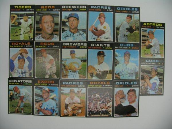 6019: 1971 Topps High Grade Baseball Card Grouping