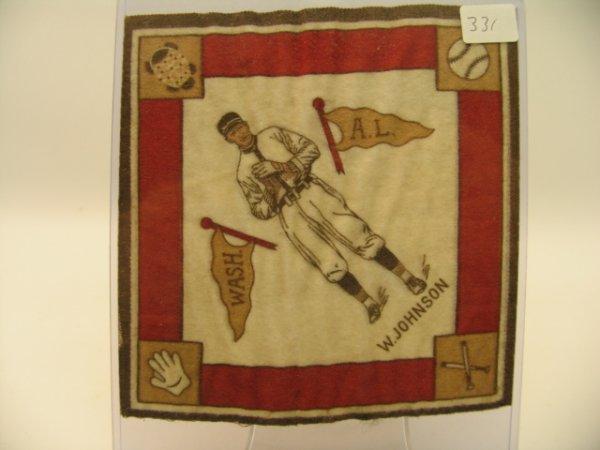 6331: Walter Johnson Senators Tobacco Blanket