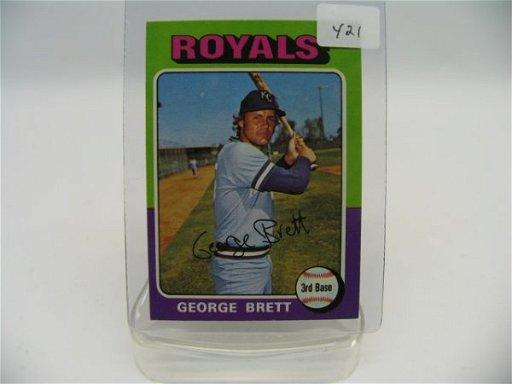 6421 George Brett 1975 Topps Rookie Card 228 Nm