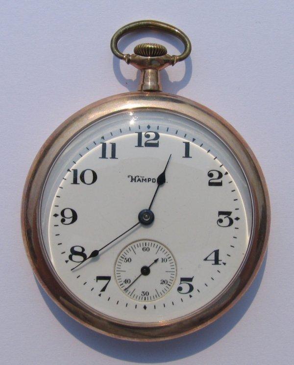 19: Hampden 15 Jewels Pocket Watch