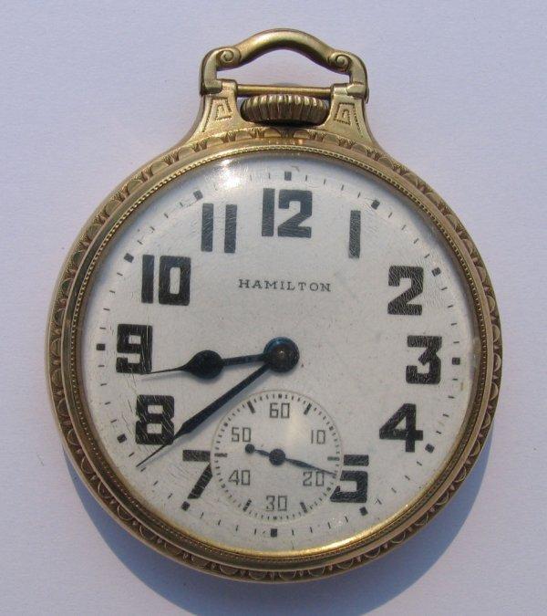 24: Hamilton Watch Co Pocket Watch, 21 Jewels