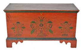 257: Joel Palmer Paint Decorated Blanket Chest