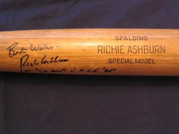 1001: Autographed Richie Ashburn Spalding Bat