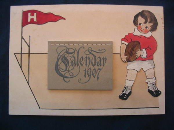 1006: Harvard 1907 Calendar Series Football Card
