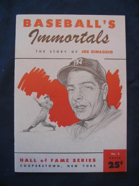 1007: 1961 Joe DiMaggio Baseball Booklet