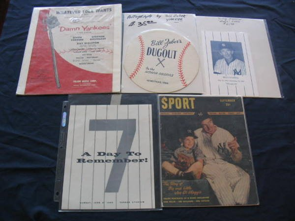 1012: NY Yankees Vintage Collection of 5 Items