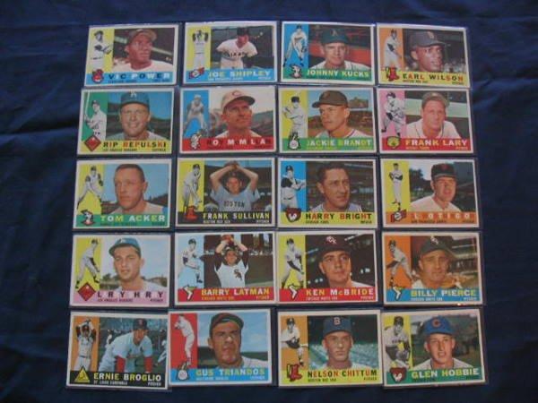 1013: (20) 1960 Topps Baseball Cards