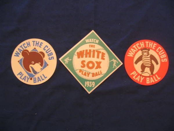 1014: (3) Chicago Cubs / White Sox Team Decals