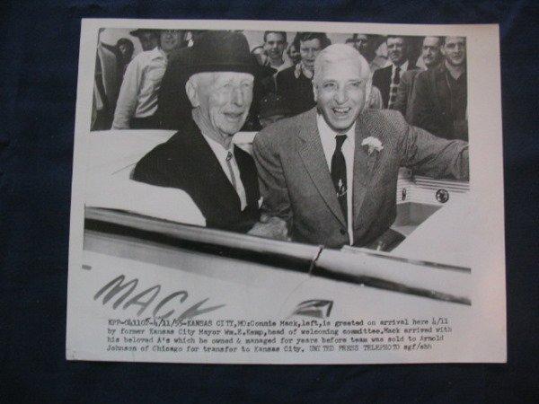 1018: Connie Mack UPI Telephoto from 4/11/55