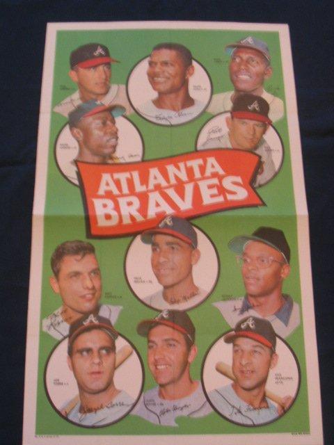 1021: Atlanta Braves 1960's Topps Lg Baseball Poster