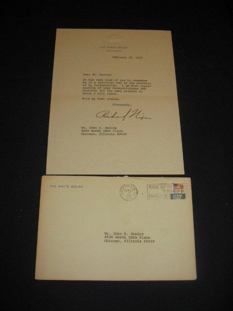 1344: Richard Nixon Signed Letter Feb. 20, 1973