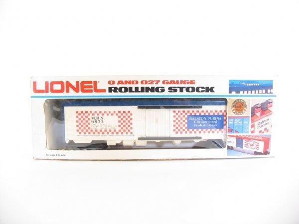 1004: Lionel Ralston Purina Reefer Car 6-9873 O/B
