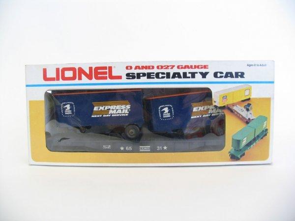 1009: Lionel Express Mail Flat Car w/Vans 6-6531 O/B